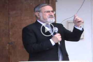 Chief Rabbi Lord Sacks – Stone laying ceremony for the Tfahot Bet Midrash